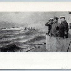 Postales: 1961 BALTIC FLEET VOROSHILOV N KALININ ON MANEUVERS BATTLE SHIP SOVIET POSTCARD - MALTSEV P.T.. Lote 278749898