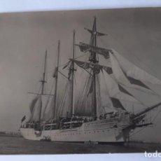 Postales: POSTAL FOTOGRAFICA DEL BUQUE JUAN SEBASTIAN DEL CANO. PRIMER VIAJE DE NAVEGACION. AÑO 1928.. Lote 279384758