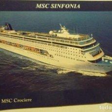 Postales: POSTAL CRUCERO MSC SINFONIA. Lote 279470273