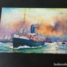 Postales: BARCO INGLES R.M.S. ORTONA POSTAL CROMOLITOGRAFICA. Lote 285967968