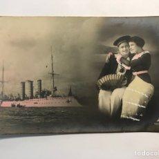 Postales: POSTAL ROMÁNTICA COLOREADA, EL CAPITAN Y SU AMADA.. EDIC. PH NO.10292-6.., (H.1920?). Lote 288415908