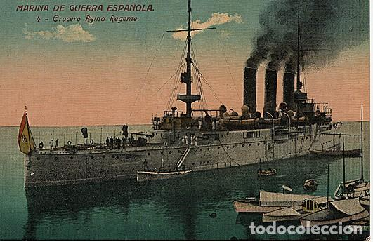 X126179 ESPANA MARINA DE GUERRA ESPANOLA CRUCERO REINA REGENTE (Postales - Postales Temáticas - Barcos)