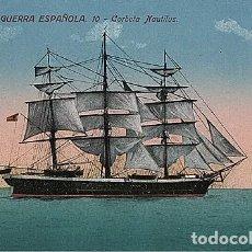 Postales: X126184 ESPANA MARINA DE GUERRA ESPANOLA CORBETA NAUTILUS VELERO MILITAR. Lote 288514838