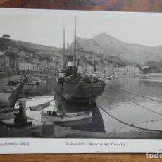 Postales: ANTIGUA POSTAL FOTOGRÁFICA - SOLLER , BARRIO DEL PUERTO Nº 268 / MALLORCA - EDIT. N.C.P - AÑOS 30. Lote 288660388