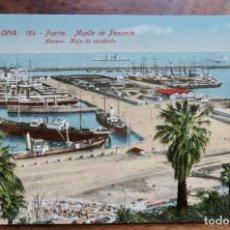 Postales: BCN. RECUERDO DE BARCELONA 154. MUELLE DE PONIENTE. JORGE VENINI. Lote 288662293