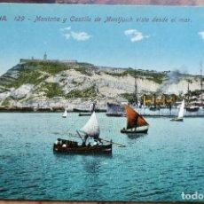 Postales: BARCELONA 129 MONTAÑA Y CASTILLO DE MONTJUICH VISTO DESDE EL MAR - JORGE VENINI. Lote 288663113