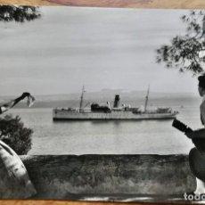 Postales: MALLORCA PALMA - LLEGADA DE UN VAPOR- CIRCULADA 1956. Lote 288667388