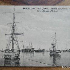 Postales: BARCELONA- 119- PUERTO .MUELLE DEL MORROT-JORGE VENINI. Lote 288667928