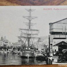 Postales: ALICANTE- MUELLES DE LEVANTE Y COSTA.. Lote 288928658
