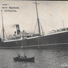 Cartoline: ANTIGUA POSTAL DE BARCO - SERIE STANDARD - MARINA MERCANTE ESPAÑOLA - VAPOR CORREO CATALINA. Lote 292027588