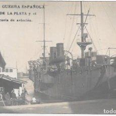 Cartoline: ANTIGUA POSTAL FOTOGRAFIA DE BARCO - MARINA DE GUERRA ESPAÑOLA - CRUCERO RIO DE LA PLATA. Lote 292568893
