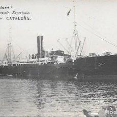 Cartoline: ANTIGUA POSTAL FOTOGRAFIA DE BARCO - SERIE STANDARD MARINA MERCANTE ESPAÑOLA - VAPOR CORREO CATALUÑA. Lote 292569168