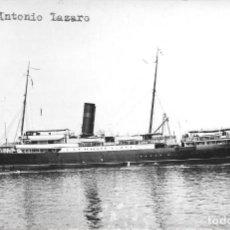 Postales: ANTIGUA POSTAL O FOTOGRAFIA DE BARCO - ANTONIO LAZARO. Lote 292586808
