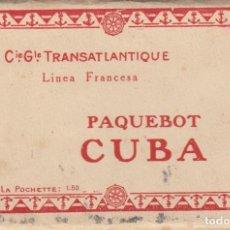 Postales: TACO COMPLETO CON LAS 12 POSTALES DEL PAQUEBOT CUBA --CIE.GLE TRANSATLANTIQUE -VER FOTOS ADICIONALES. Lote 293971923