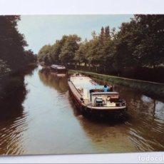 Postales: POSTAL - VILLEFRANCHE DE LAURAGAIS - UNA BARCAZA EN EL CANAL DU MIDI - BARCOS. Lote 295003673