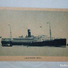Postales: BUQUE ALFONSO X III , COMPAÑIA TRASATLANTICA .. Lote 295379968