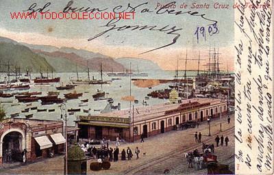 POSTAL DE TENERIFE Nº7842 -PUERTO DE SANTA CRUZ. (Postales - España - Canarias Antigua (hasta 1939))