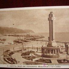 Postales: TENERIFE. MONUMENTO A LOS CAIDOS. Lote 17455107
