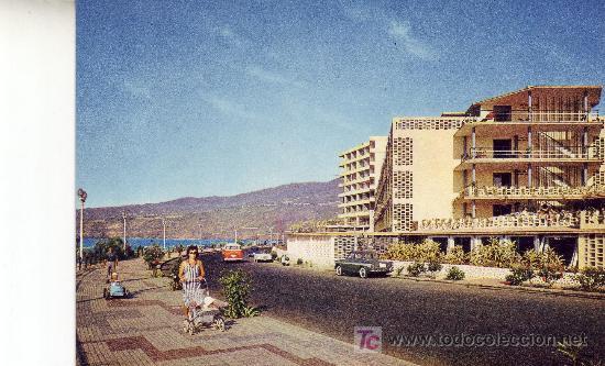POSTAL COLOR SEPIA DE TENERIFE-PUERTO DE LA CRUZ.AV COLON (Postales - España - Canarias Moderna (desde 1940))