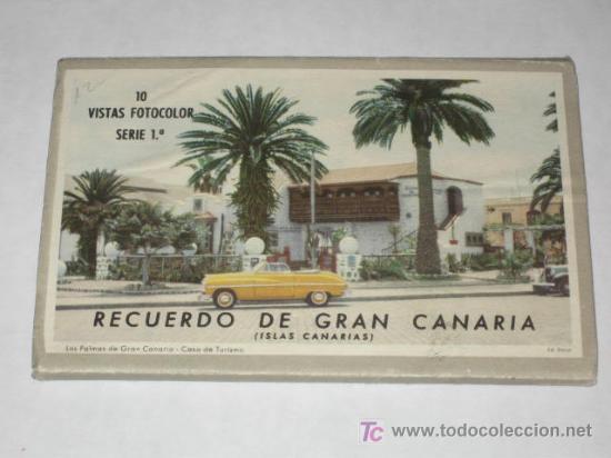 CARNET DE 10 POSTALES DE GRAN CANARIA, AÑOS 50. ED. DECA, GRÁFICA MANEN. (Postales - España - Canarias Antigua (hasta 1939))