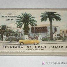 Postales: CARNET DE 10 POSTALES DE GRAN CANARIA, AÑOS 50. ED. DECA, GRÁFICA MANEN. . Lote 27443196