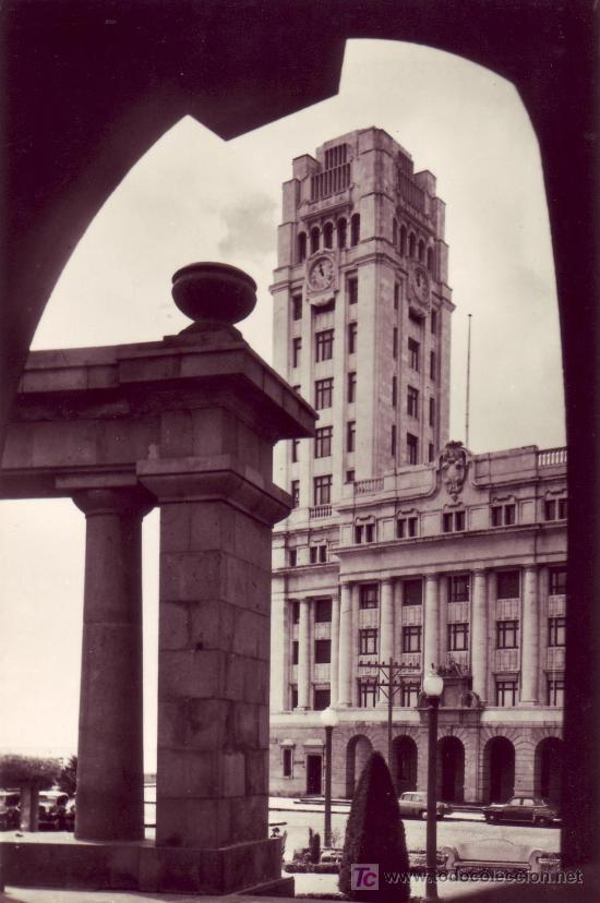 POSTAL FOTOGRAFICA BLANCO Y NEGRO DE CANARIAS. SANTA CRUZ DE TENERIFE. CABILDO INSULAR. (Postales - España - Canarias Moderna (desde 1940))