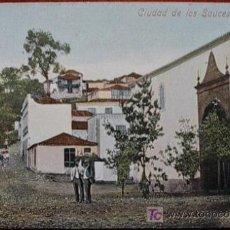 Cartes Postales: POSTAL CIUDAD DE LOS SAUCES ( LA PALMA ). REVERSO SIN DIVIDIR. Lote 23709931