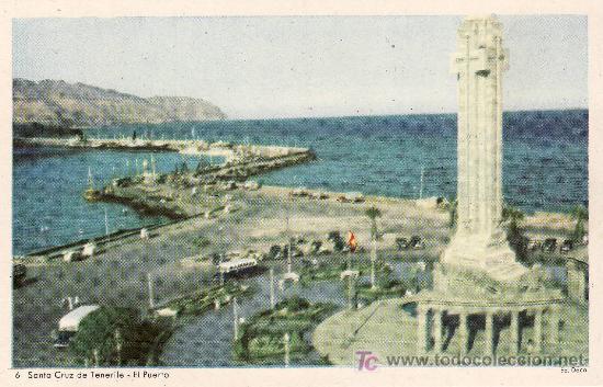Nº6 SERIE ED. DECA. SANTA CRUZ DE TENERIFE. EL PUERTO .SIN CIRCULAR (Postales - España - Canarias Moderna (desde 1940))