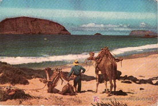 LA GRACIOSA.ISLAS CANARIAS.PLAYA DE LAS CONCHAS .SIN CIRCULAR. (Postales - España - Canarias Moderna (desde 1940))