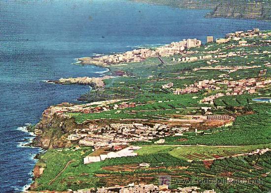 TENERIFE.VISTA DE LA COSTA Y PUERTO DE LA CRUZ. SIN CIRCULAR. (Postales - España - Canarias Moderna (desde 1940))