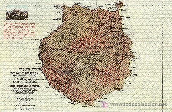 CANARIAS. MAPA DE GRAN CANARIA. SIN CIRCULAR. MAS COLECCIONISMO EN RASTRILLOPORTOBELLO (Postales - España - Canarias Moderna (desde 1940))