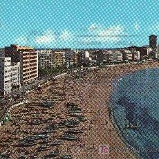 Postales: LAS PALMAS DE GRAN CANARIA. VISTA GENERAL PLAYA LAS CANTERAS.CIRCULADA.. Lote 6358978