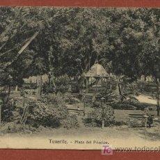 Postales: TENERIFE. PLAZA DEL PRÍNCIPE. NOBREGA´S ENGLISH BAZAR 14994. CIRCULADA EN 1910 A BÉLGICA. Lote 27602770