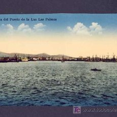 Postales: POSTAL DE LAS PALMAS DE GRAN CANARIA: BAHIA DEL PUERTO DE LA LUZ (ED.RODRIGUES BROS) (ANIMADA). Lote 7462436