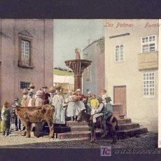 Postales: POSTAL DE LAS PALMAS DE GRAN CANARIA: FUENTE ANTIGUA (ANIMADA). Lote 7462449