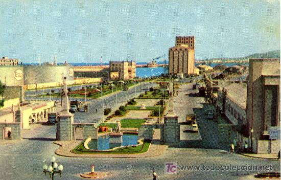 LAS PALMAS DE GRAN CANARIA- ENTRADA A MUELLES- ANTIGUA - CIRCULADA 1961 (Postales - España - Canarias Moderna (desde 1940))