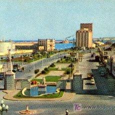 Postales: LAS PALMAS DE GRAN CANARIA- ENTRADA A MUELLES- ANTIGUA - CIRCULADA 1961. Lote 23080097