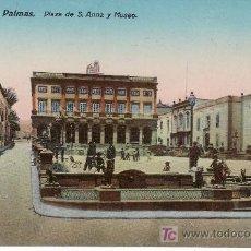 Postales: GRAN CANARIA.LAS PALMAS.PLAZA DE SANTA ANNA Y MUSEO. NO CIRCULADA.. Lote 22474918