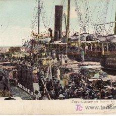 Postales: GRAN CANARIA. DESEMBARQUE DE TROPAS EN PUERTO LA LUZ.CIRCULADA 1909. Lote 21154313