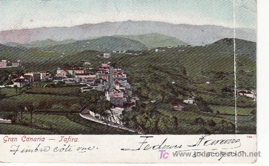 GRAN CANARIA. TAFIRA. MAS COLECCIONSIMO DESDE TENERIFE-RASTRILLOPORTOBELLO (Postales - España - Canarias Antigua (hasta 1939))
