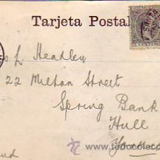 Postales: ALFONSO XIII PELON (PAREJA 5 CTS: EDIFIL 216) EN TARJETA POSTAL 1900 SANTA CRUZ DE TENERIFE (C. Lote 23209805