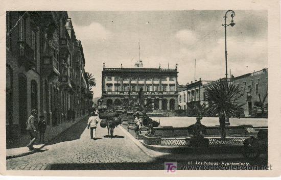 Nº81 LAS PALMAS.AYUNTAMIENTO.EDICION VDA DE RAFAEL ROMERO.NO CIRCULADA. (Postales - España - Canarias Antigua (hasta 1939))