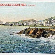Postales: LAS PALMAS GRAN CANARIA VISTA GENERAL. POSTAL EN BYN COLOREADA. SIN CIRCULAR. Lote 2621946