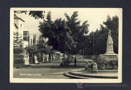 POSTAL DE TENERIFE: RAMBLA DEL GENERAL FRANCO (Postales - España - Canarias Antigua (hasta 1939))