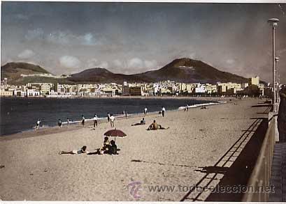 LAS PALMAS DE GRAN CANARIA. PLAYA DE LAS CANTERAS. ED. JUNTA DE TURISMO. FOT. VERDADERA. ESCRITA (Postales - España - Canarias Moderna (desde 1940))