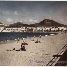 Cartes Postales: LAS PALMAS DE GRAN CANARIA. PLAYA DE LAS CANTERAS. ED. JUNTA DE TURISMO. FOT. VERDADERA. ESCRITA. Lote 10175318