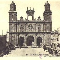 Postales: LAS PALMAS. LA CATEDRAL. POSTAL BLANCO Y NEGRO, C. 1955. GC. Lote 26189263