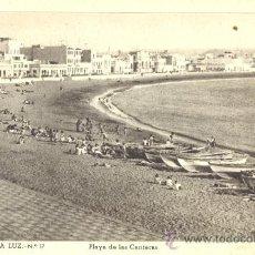 Postales: LAS PALMAS. PLAYA DE LAS CANTERAS. POSTAL BLANCO Y NEGRO, C. 1955. P. Lote 20256342