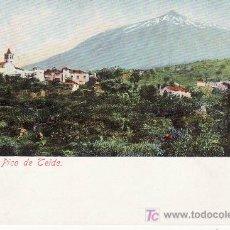Postales: ICOD CON EL PICO DE TEIDE.POSTAL NO DIVIDIDA,NO CIRCULADA.. Lote 25430628