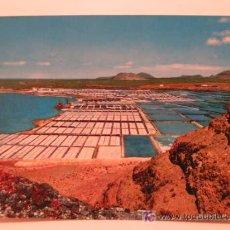 Postales: POSTALES ANTIGUAS LANZAROTE - SALINAS DE JANUBIO (POSTAL SIN CIRCULAR). Lote 25946140